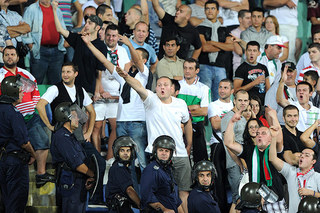 Bulgaria fans directed monkey chants at Ashley Cole, Ashley Young and Theo Walcott.jpg