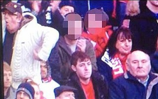 Monkey gester by a Liverpool supporter.jpg