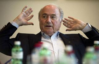 Sepp Blatter perplexed in the controverse about racism.jpg