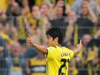 Shinji Kagawa after he scores against Sandhausen.jpg